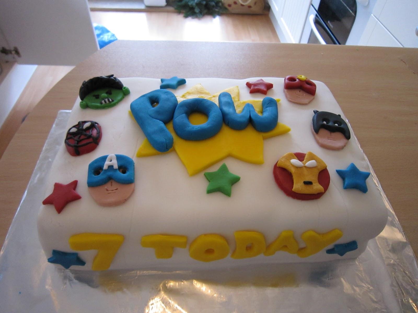 Marvel Birthday Cake Asda