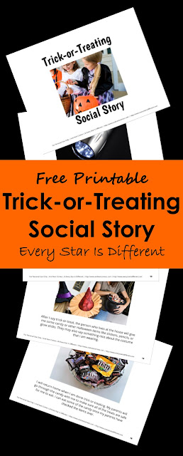 Free Trick-or-Treating Social Story for kids
