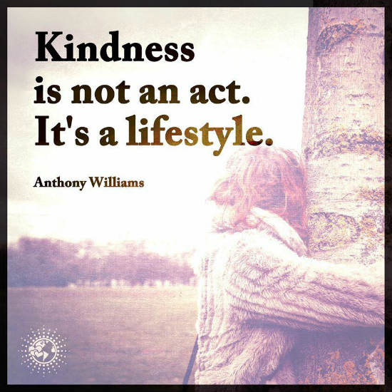 Quote About Kindness Enchanting Kindness Is Not An Act It's A Lifestyle  Anthony Williams Quote.