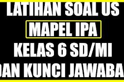 SOAL USBN SD 2018 MAPEL IPA DENGAN KUNCI JAWABAN