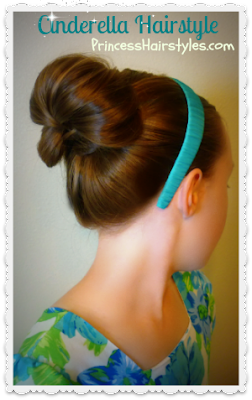 Cinderella hairstyle, video tutorial