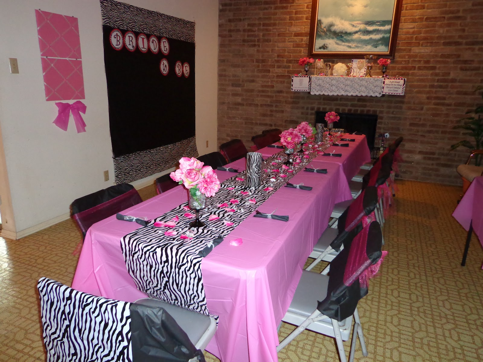 dollar tree bunny chair covers round kitchen table and chairs argos couture creations glitzy zebra lingerie shower