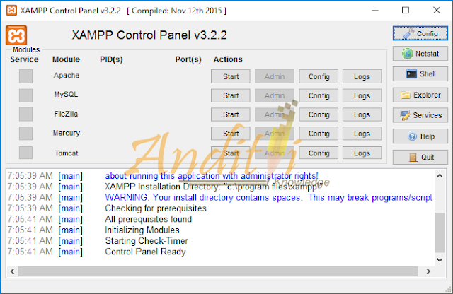 Download XAMPP v7.0.9 Offline Installer Terbaru_anditii.web.id