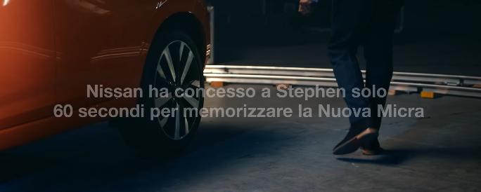 Modello Nuova Nissan Micra pubblicità disegnato a prima vista con Foto - Spot Gennaio 2017