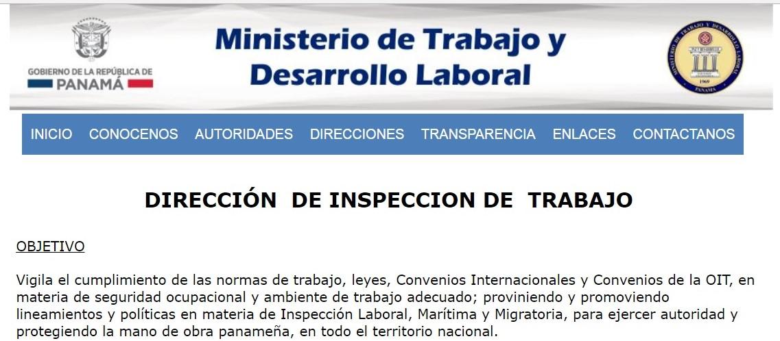 Denuncias ministerio de trabajo rep blica de panam for Ministerio de trabajo