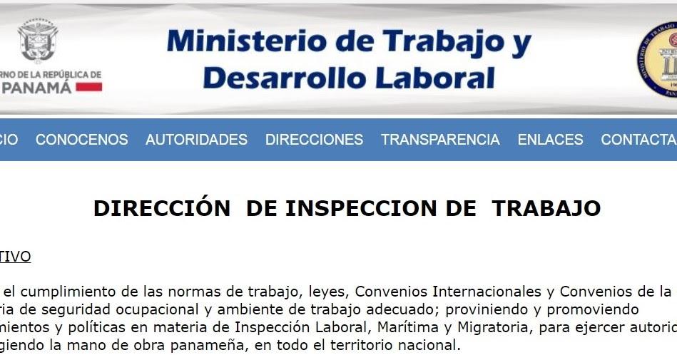 Panam el istmo a pleno sol denuncias ministerio de for Ministerio de trabajo