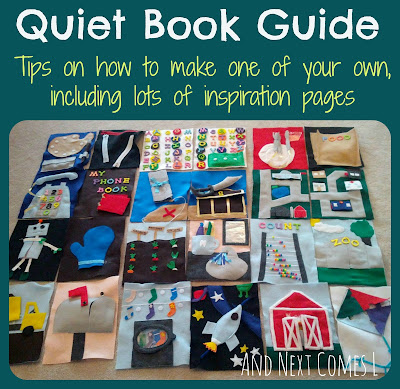 Quiet book guide from And Next Comes L