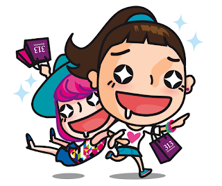 Carrie and Belle LINE Sticker