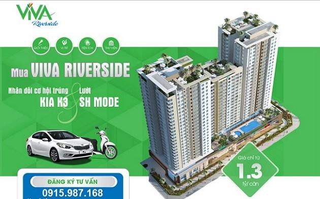 Mua căn hộ VIVA Riverside trúng KIA K3 và SH mode