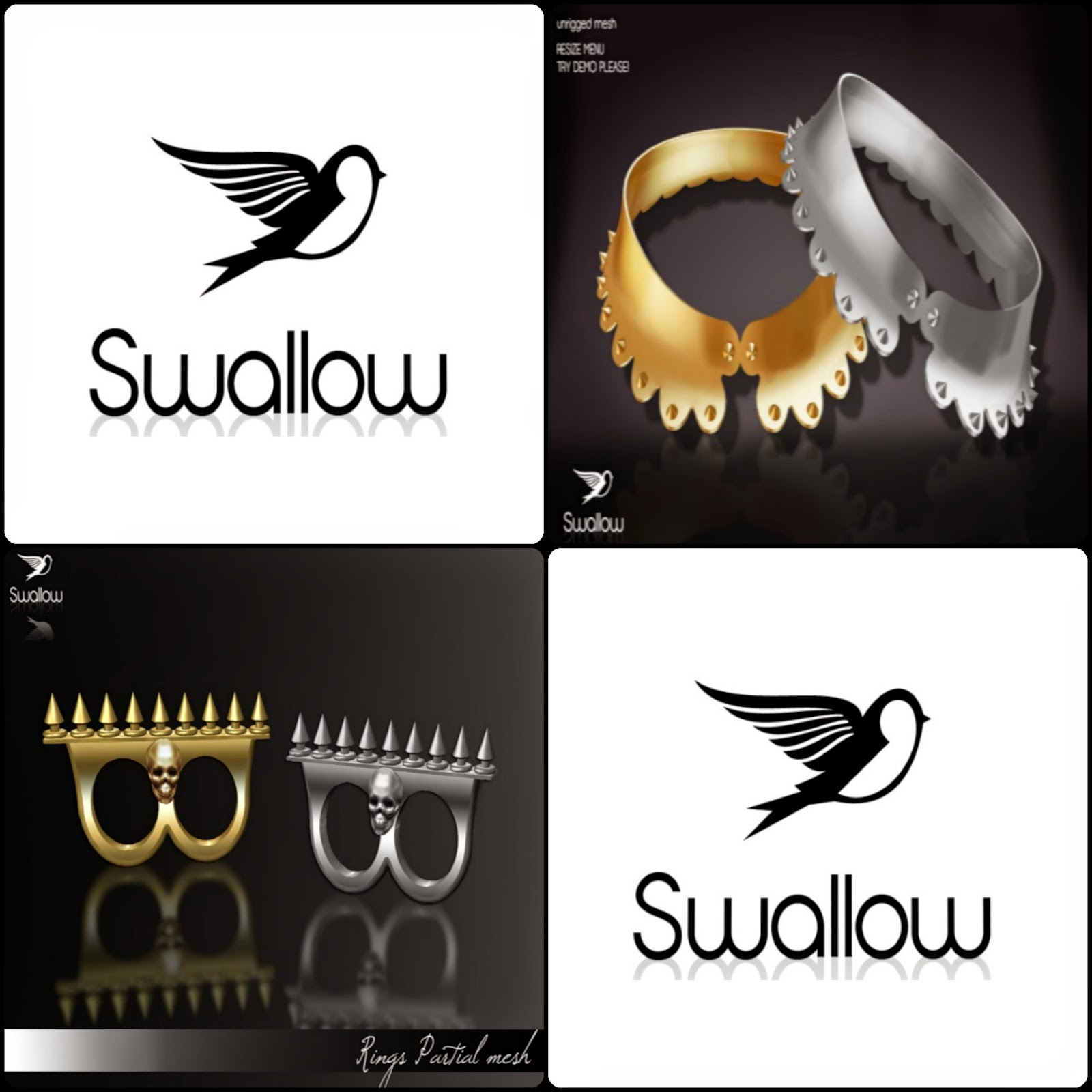 THIRD LIFE: SWALLOW - COLLAR AND RINGS