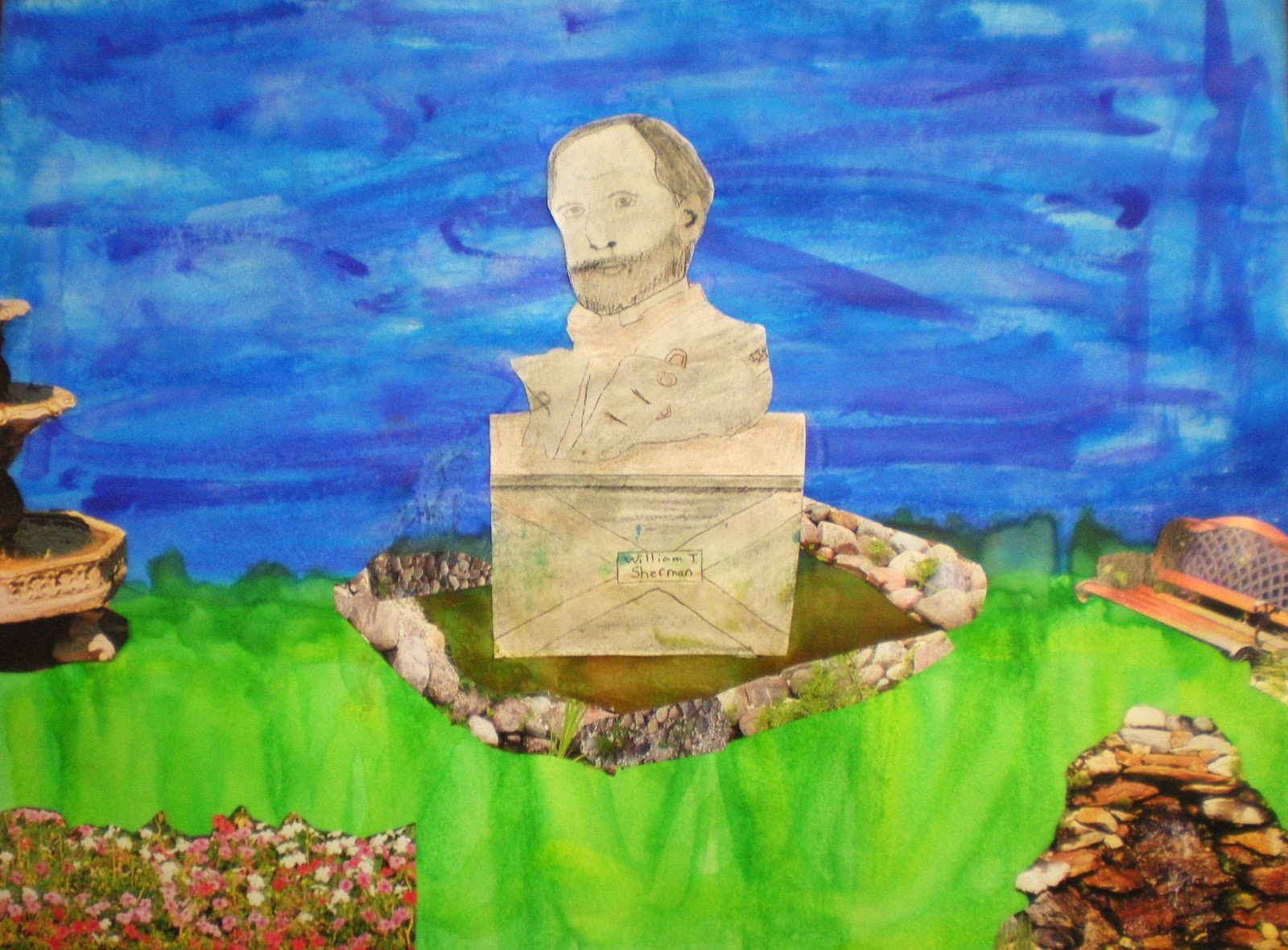 Miss M S Art Room 8th Grade Civil War Memorial Collages