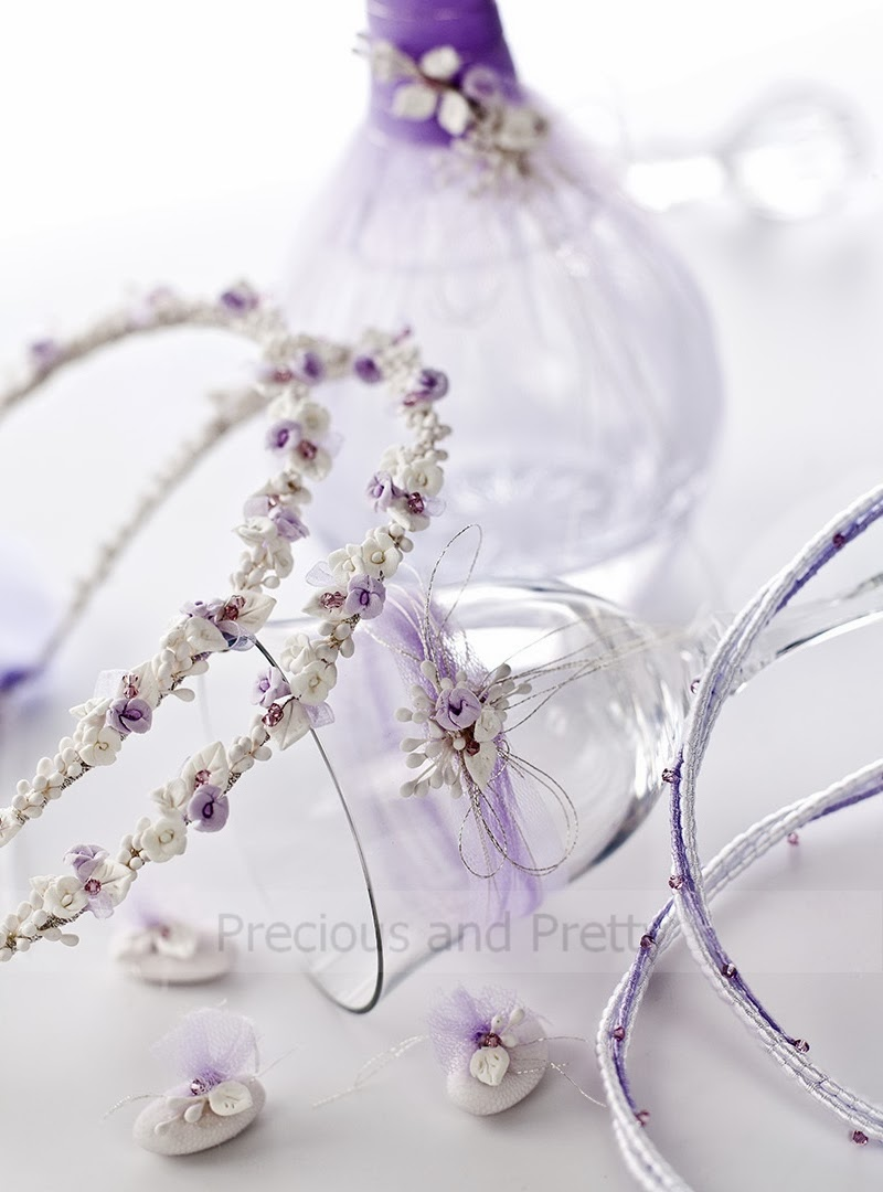 Lavender themed wedding set from Greece