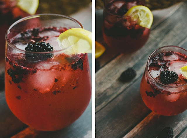 Blackberry Lemon Gin and Tonic // Summer Cocktails | Orange Tree ...