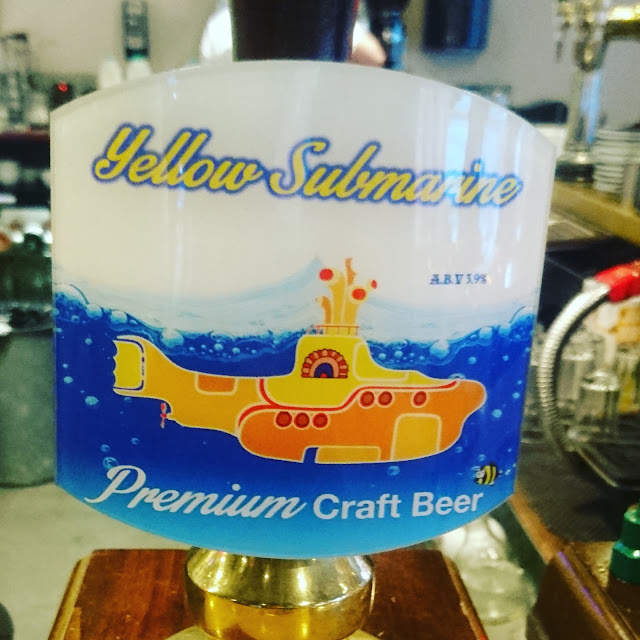 Yellow Submarine from Oceanic Beer Co. real ale craft beer pump clip