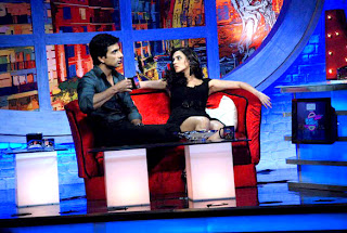 Sonu Sood and Neha Dhupia on the sets of 'Movers N Shakers' TV Show