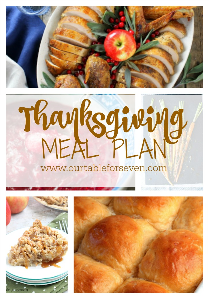 Weekly Meal Plan: Thanksgiving Edition from Table for Seven