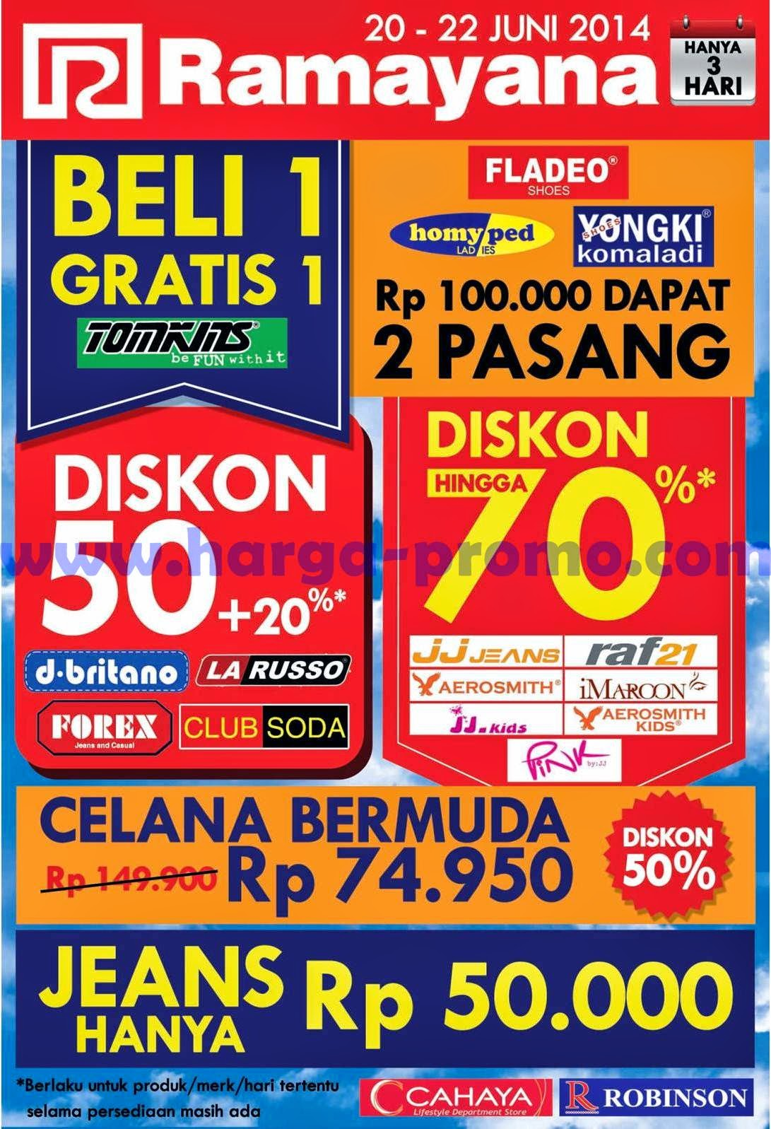 Promo RAMAYANA Department Store Akhir Pekan Periode 20 - 22 Juni 2014 ~  promosi katalog 7b6265da4b