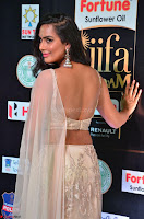 Prajna Actress in backless Cream Choli and transparent saree at IIFA Utsavam Awards 2017 0025.JPG