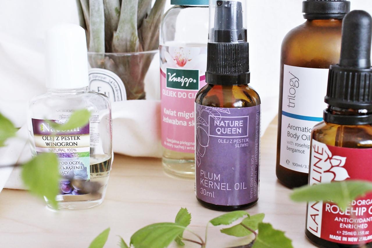 5 świetnych olejków do pielęgnacji twarzy i ciała | Kneipp, Nacomi, Trilogy, Lanoline, Nature Queen