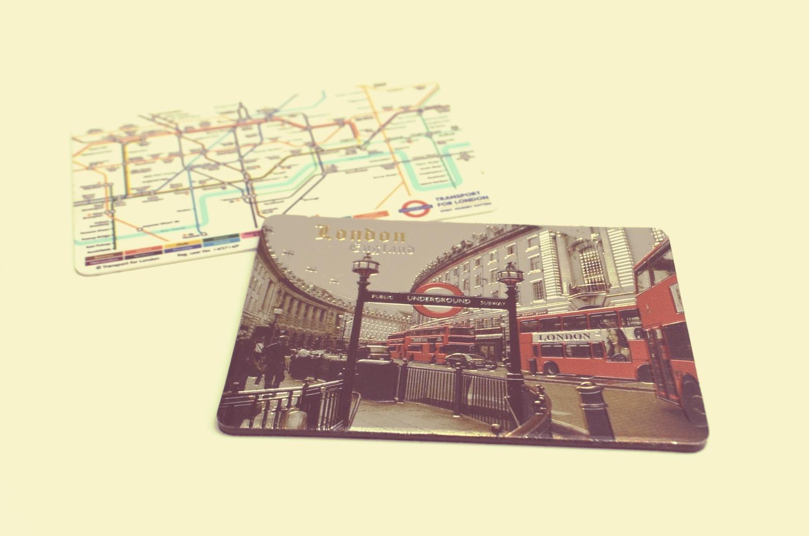 London Underground fridge magnet
