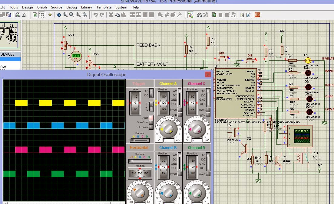 Protection Circuit Schematic Proteus Simulation Ibrahimlabs