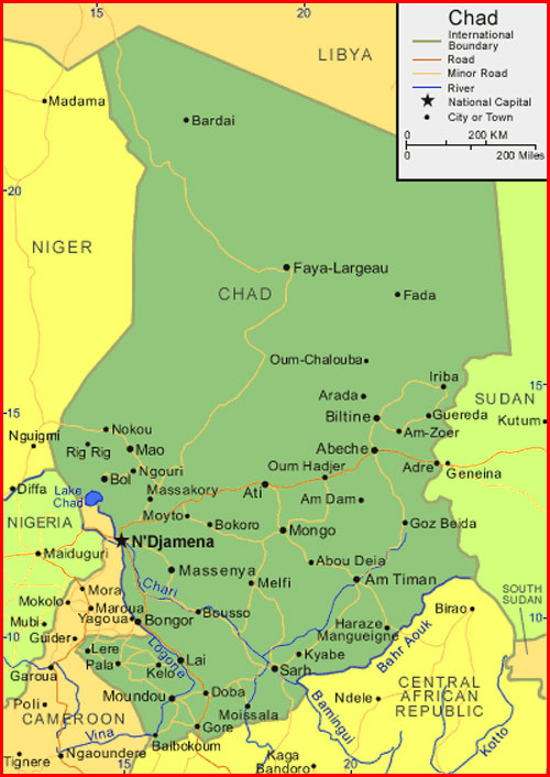 Chad Map - Maps and Clipart
