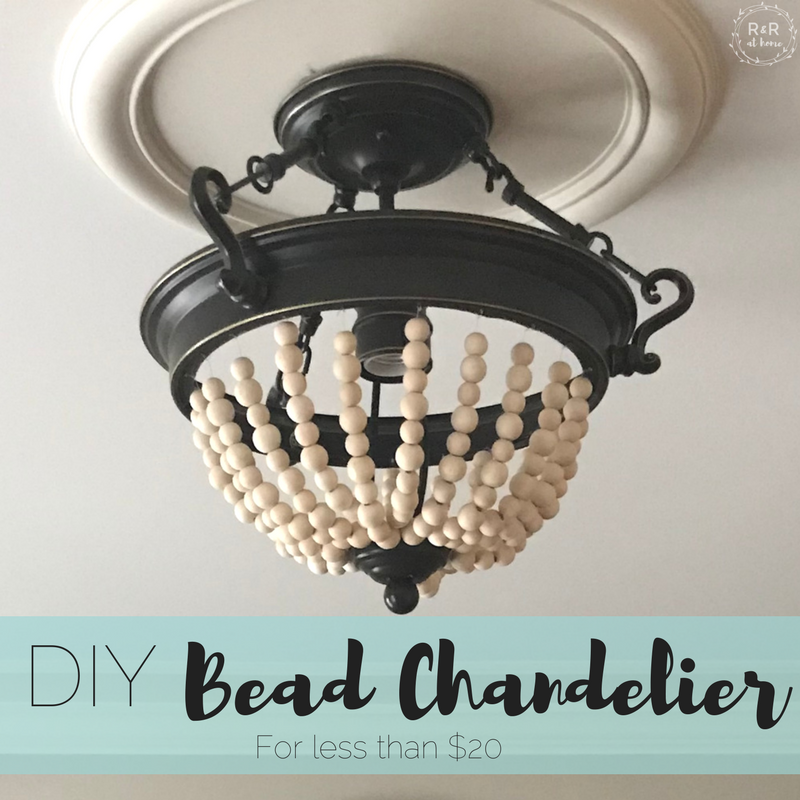 Diy bead chandelier rr at home my fingers cannot type fast enough as i sit here ready to reveal my latest diy project i am beyond excited to share how i transformed an old boob light aloadofball Gallery
