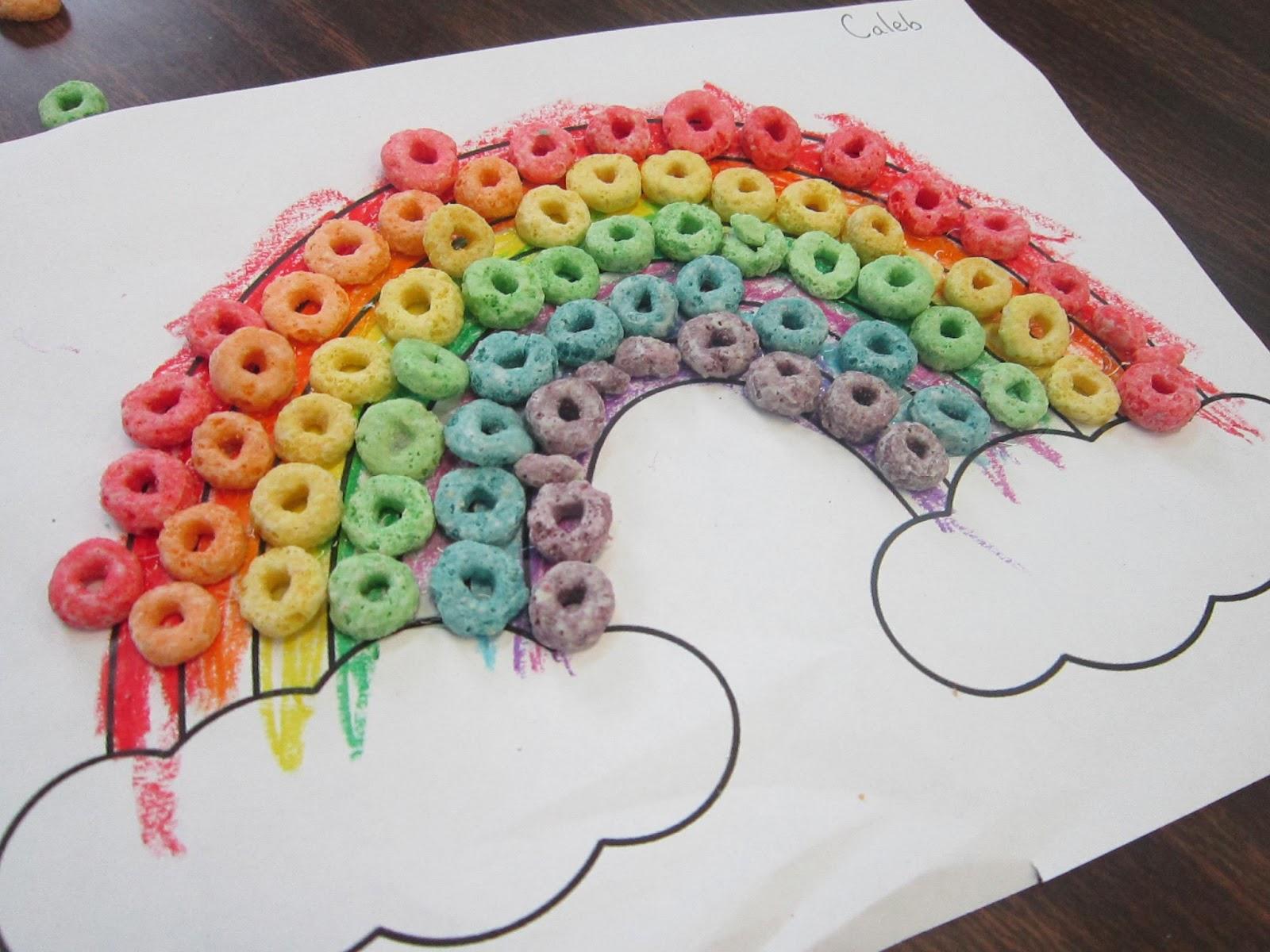 Fruit Loop Rainbow Craft Template