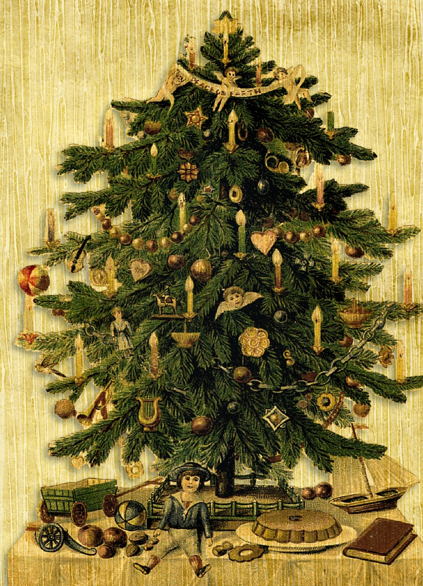 free graphics Victorian Christmas Tree