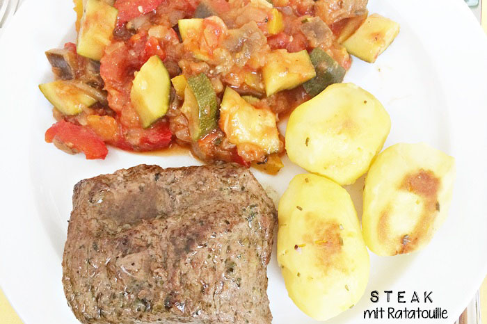 Steak mit Ratatouille