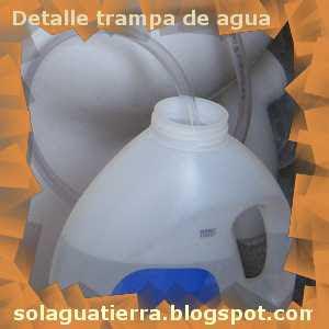 Detalle de la trampa de agua del biodigestor