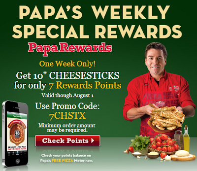 papa johns coupon free cheese sticks