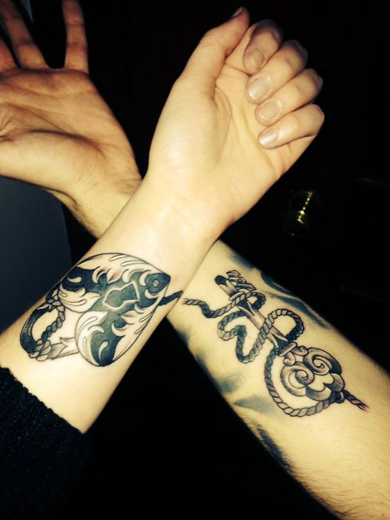 couple-tattoos-10 15 Sweetest Couple Tattoos Designs tattoo