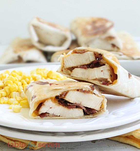 Sweet Chicken Bacon Wraps #SecretRecipeClub