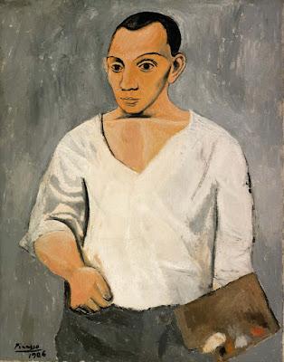 Picasso - autoportrait avec palette,1906.