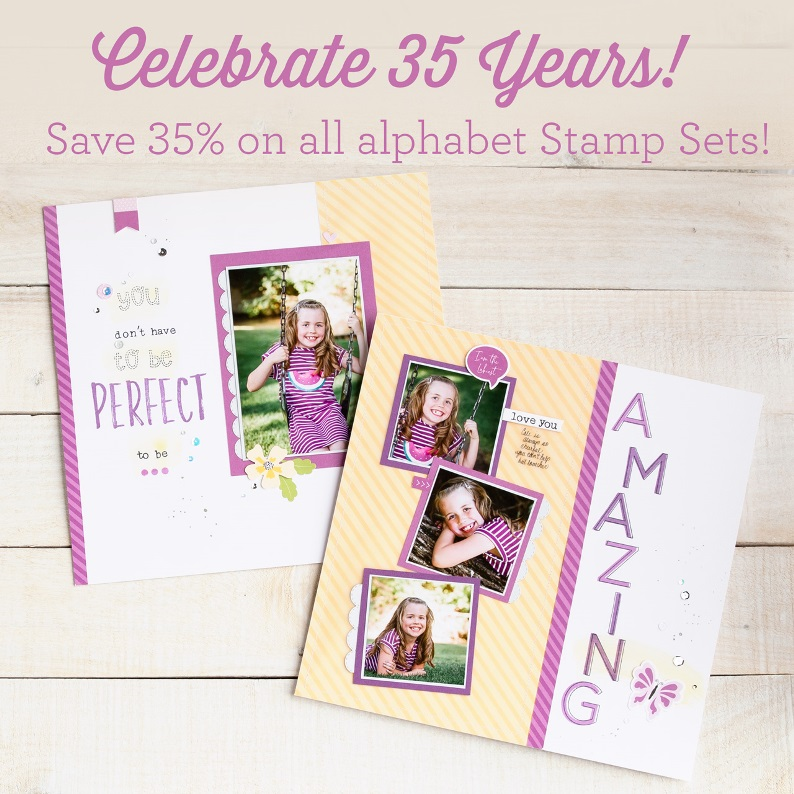 CTMH 35 yr. Anniversary - Alphabet Stamp Set Sale