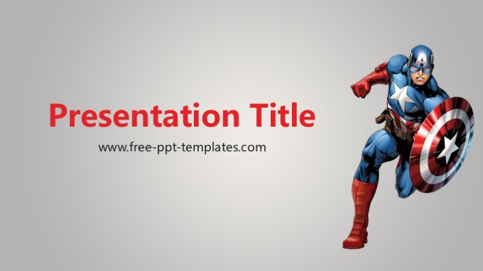 Captain america ppt template toneelgroepblik Image collections