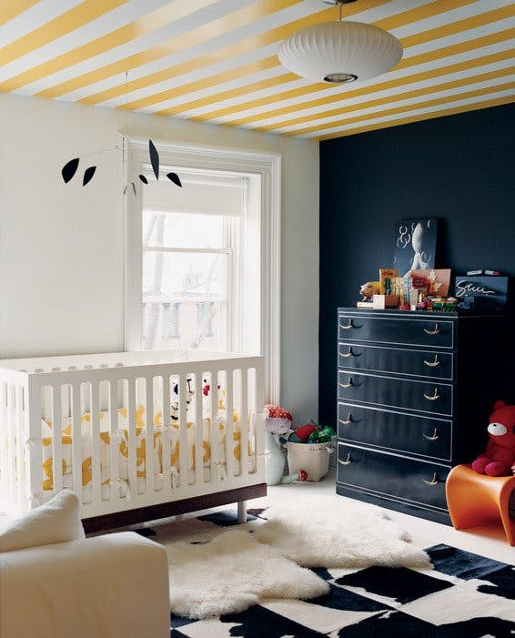 Colorful nursery in the home of Jenna Lyons- designaddictmom