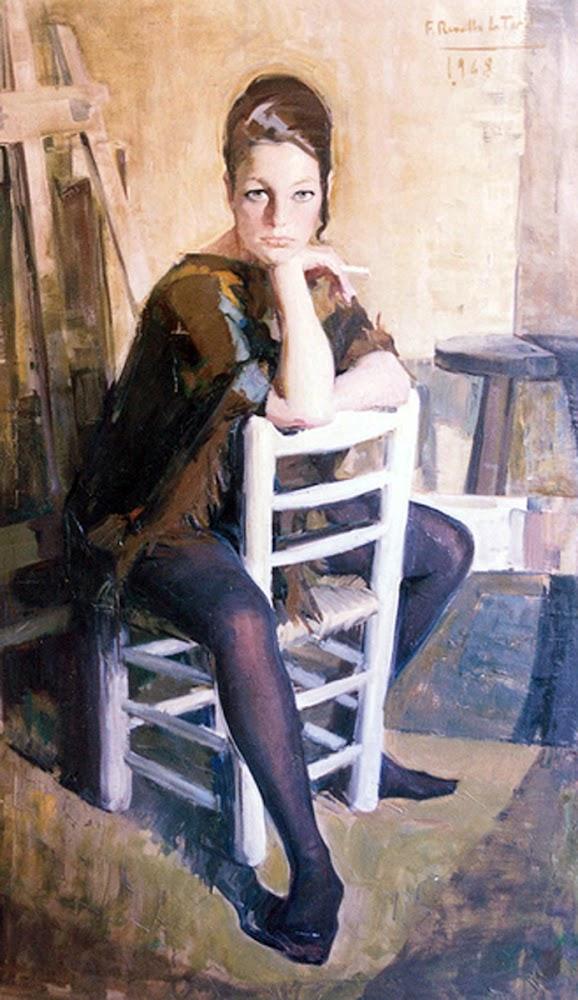 Figura en interior, Félix Revello de Toro, Pintor español, Retratos de Félix Revello de Toro
