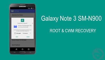 Cara Root dan Install CWM di Galaxy Note 3 SM-N900