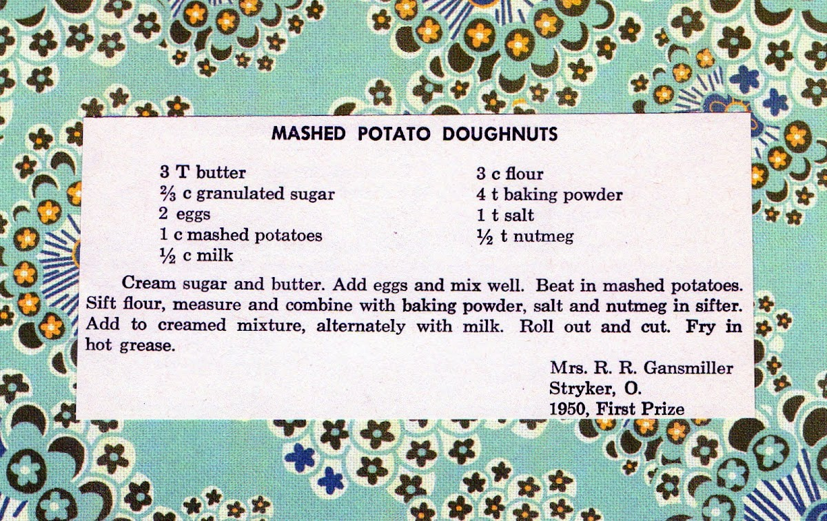 Mashed Potato Doughnuts (quick recipe)