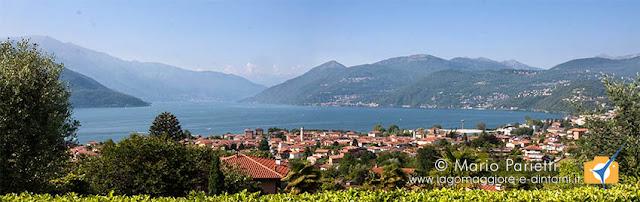 Vista panoramica su Luino e Germignaga