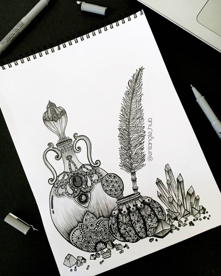 12-Ink-quill-diamonds-and-amphora-Entangle-Hub-www-designstack-co