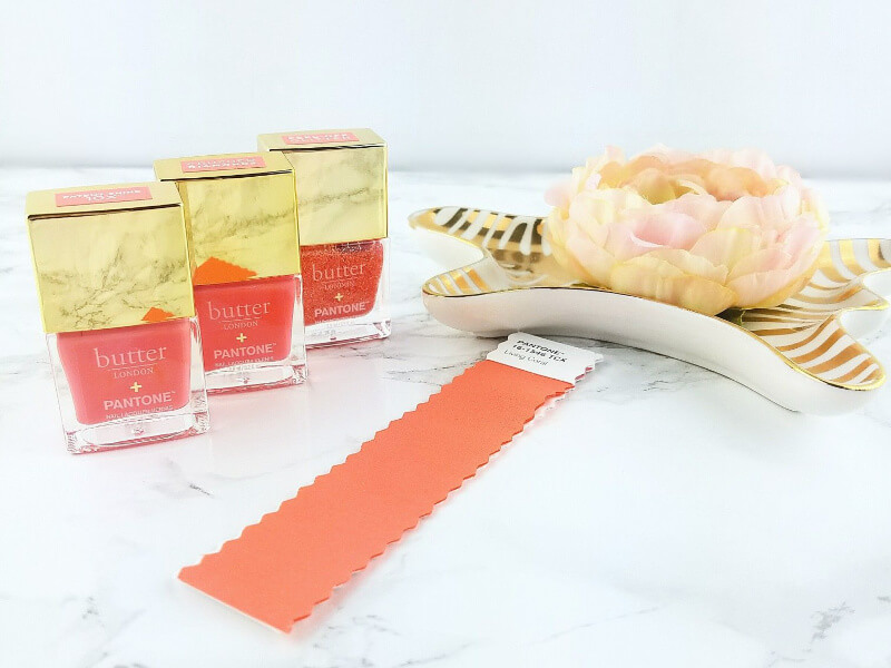 butter london x pantone color of the year 2019 living coral nail lacquer collection 1