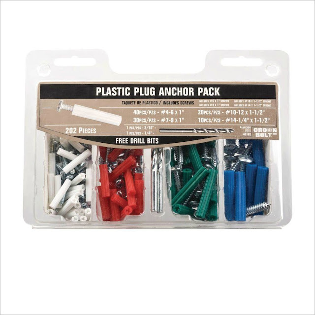 Plastic Anchors, Home Depot