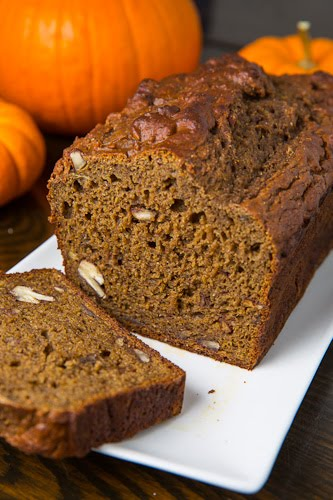 Greek Yogurt Pumpkin Banana Bread