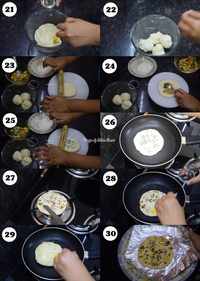 Paneer Kulcha in Pan (No Yeast) Recipe - पनीर कुलचा बिना ओवन और यीस्ट के रेसिपी - Priya R - Magic of Indian Rasoi