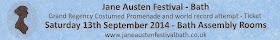 Ticket for the Jane Austen Festival Grand Regency Costumed Promenade