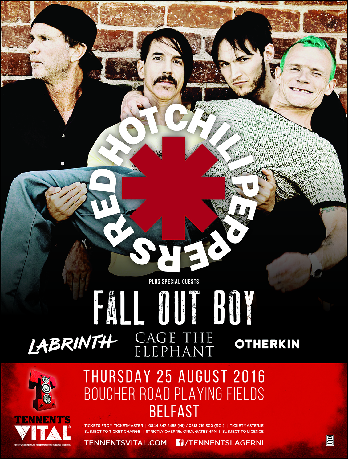 red hot chili peppers brasil red hot chili peppers live tennent 39 s vital belfast irlanda. Black Bedroom Furniture Sets. Home Design Ideas