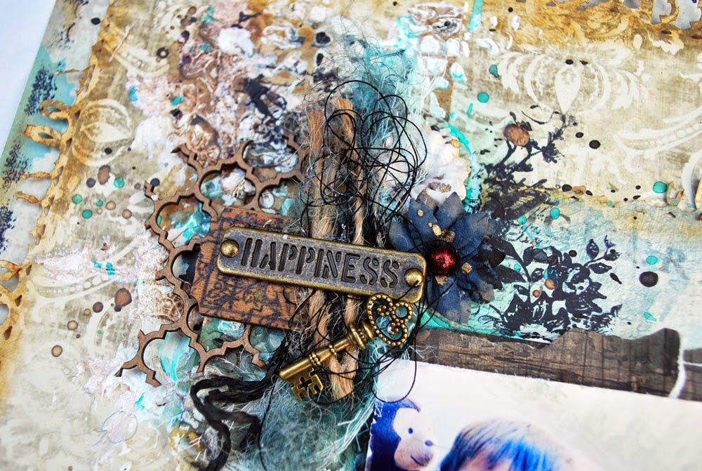 Shimmerz Paints: Happiness - Mixed Media Layout with Shona